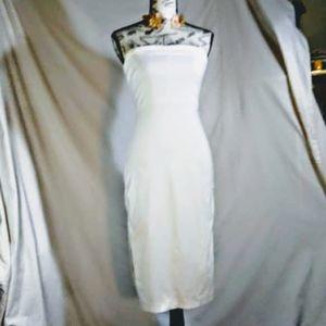 Express stretch white strapless dress size 1 / 2